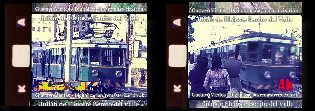 Automotores del TRENET de VALENCIA en la estación de PONT DE FUSTA