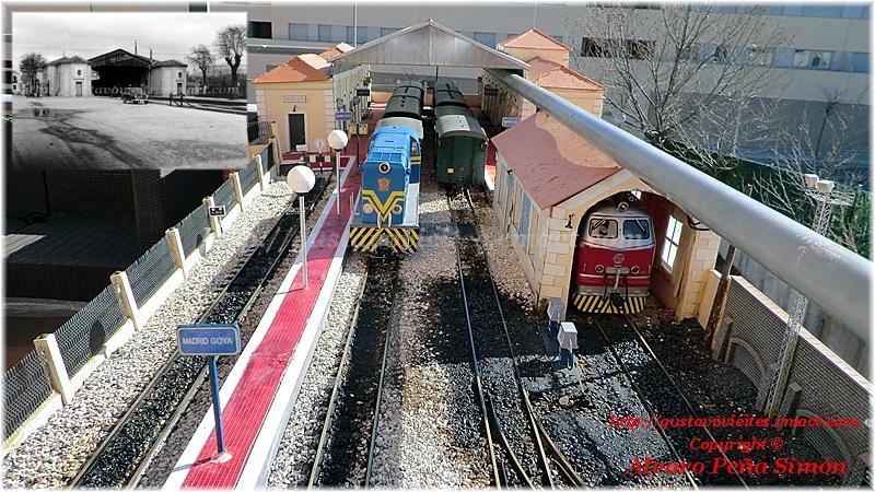 Magnífica maqueta de la antigua Estación de GOYA, en Escala G