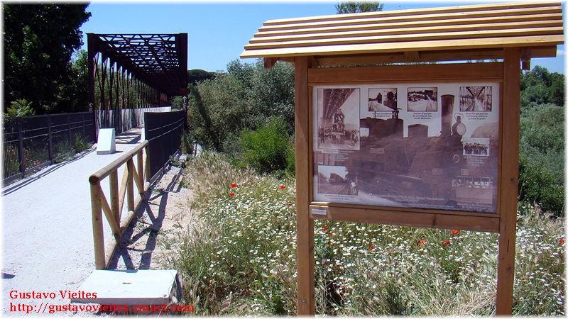 Cartel Indicativo área del Puente de Hierro