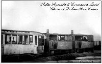 Locomotoras a vapor y coches tipo Rowan destruidos.-