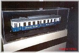 Primer Modelo de la Serie WM(101a103), en maqueta expuesta en el Museo del Ferrocarril de Delicias-Madrid-España