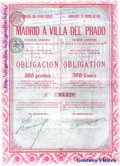 Obligación Original de la Línea - Colección Particular Gustavo Vieites.-