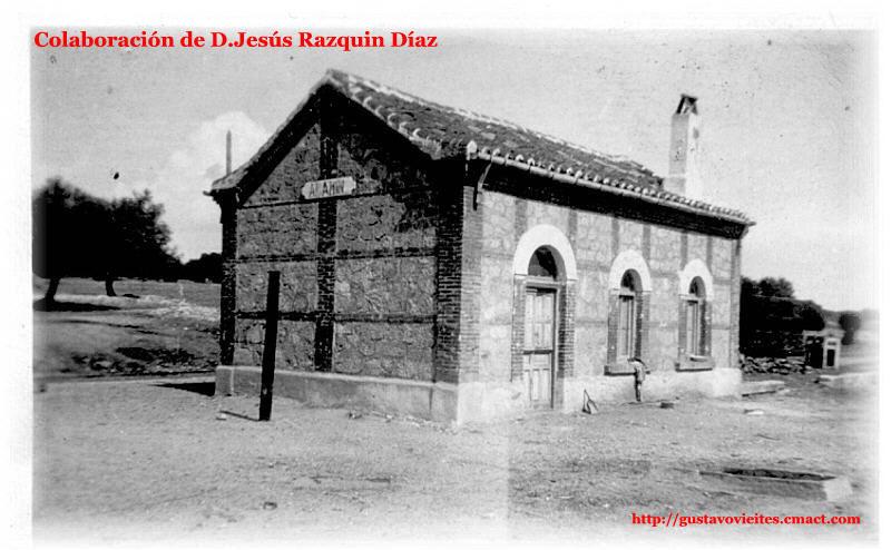 La antigua estación de Alamín.-
