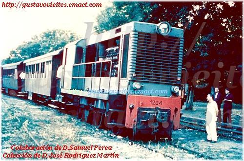 Locomotora Batignolles en el Apeadero del Río GUADARRAMA