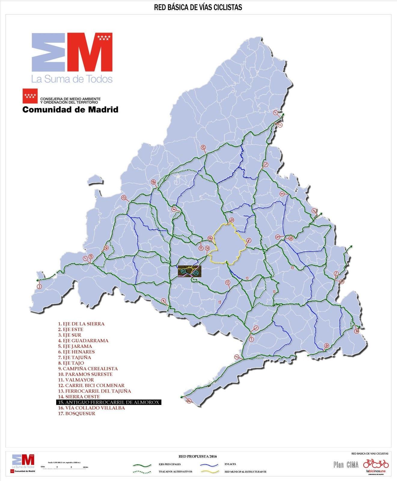 Mapa del Plan CIMA