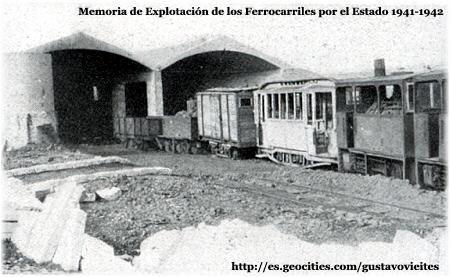 Estado en que quedaron las Instalaciones Ferroviarias-Colaboración de D. Javier Suso San Miguel