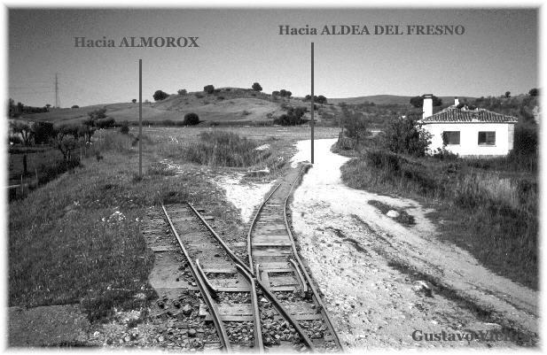 Fotomontaje del Empalme del Alberche-Tiétar o Empalme a Picadas.-