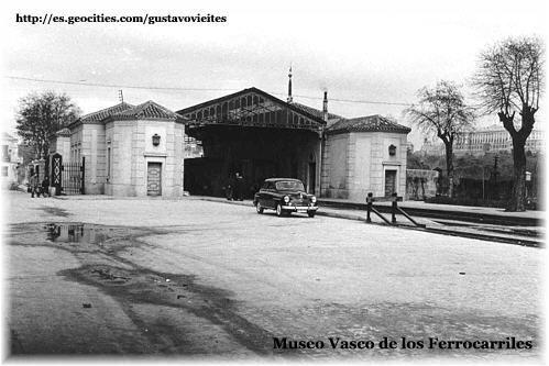 Estación de GOYA-TÉRMINO - Madrid - Colaboración del Museo Vasco de los Ferrocarriles.-