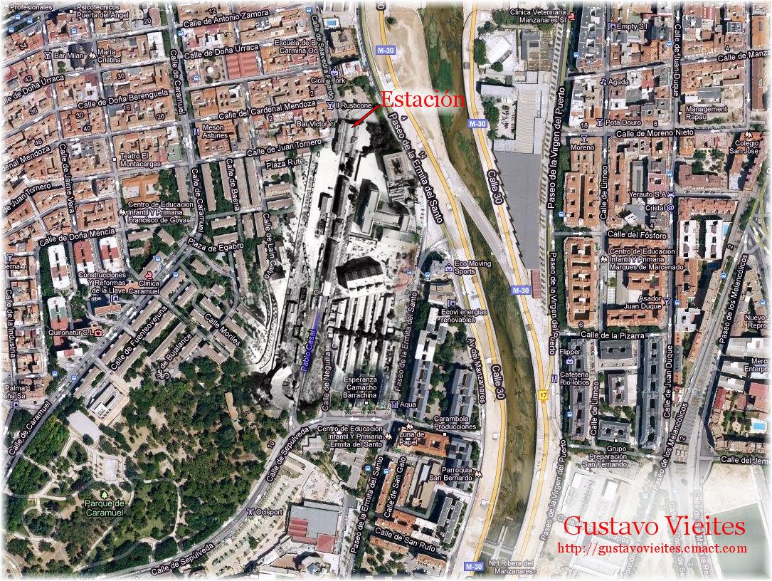 Estación GOYA-TÉRMINO - Madrid - Emplazamiento.-