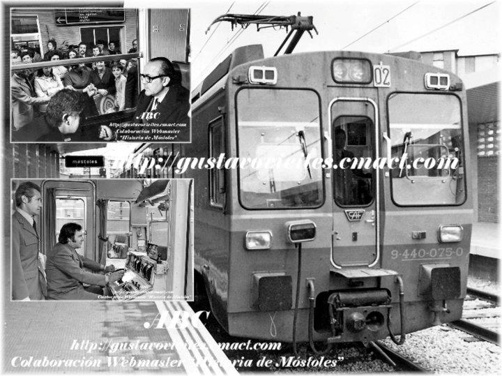Inauguración de la Línea Móstoles-Aluche, Colaboración de http://historia-mostoles.iespana.es/