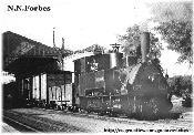 Locomotora Krauss Nº2(2299)(GUADARRAMA) partiendo de GOYA con Mercancías