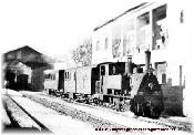 Locomotora Krauss partiendo de GOYA con Viajeros