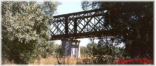 Vista General del Puente Guadarrama desde el río.-