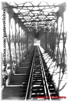 Puente Guadarrama en 1957 - Fotografía realizada por D. Juan B. Cabrera, Colaboración de D. Antonio Bravo Fernández.-