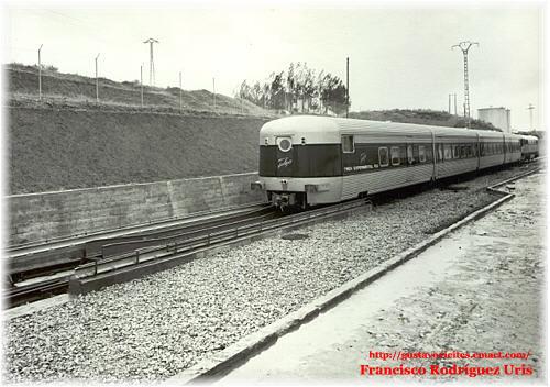 Composición TALGO RD en pruebas, en 1968